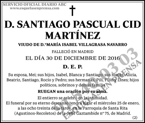 Santiago Pascual Cid Martínez
